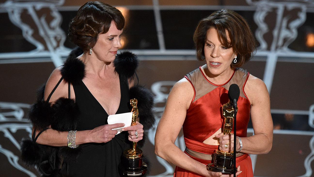 Ellen Goosenberg Kent and Dana Perry Oscars - H 2015