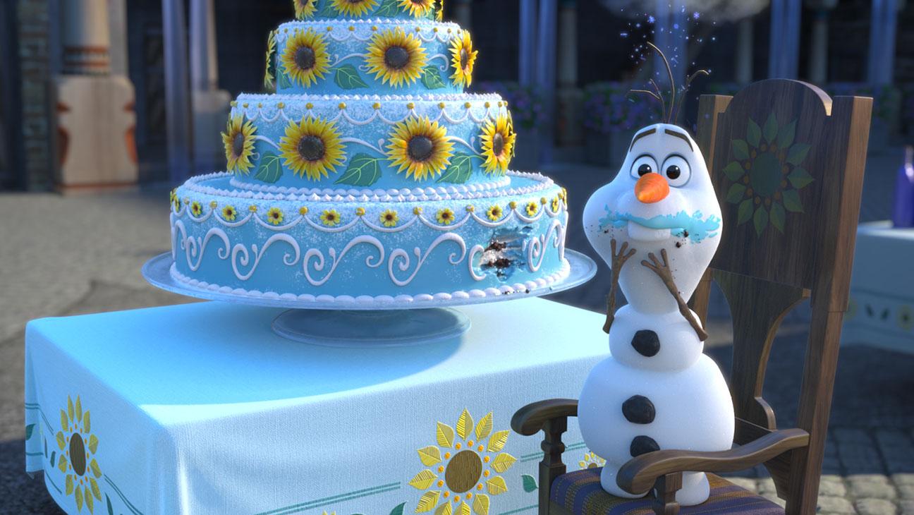 Frozen Fever Olaf Eating Cake Still - H 2015