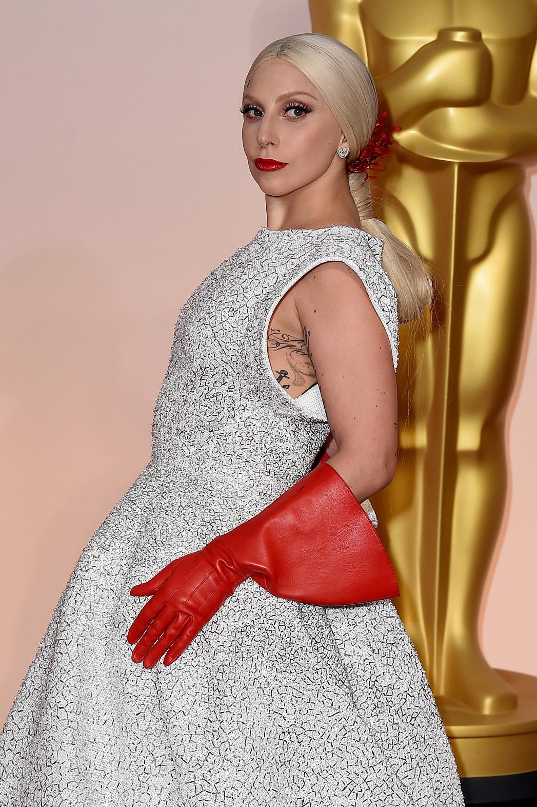Lady Gaga Oscars - P 2015