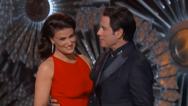 Oscars 2015: Idina Menzel and John Travolta Present Best Original Song