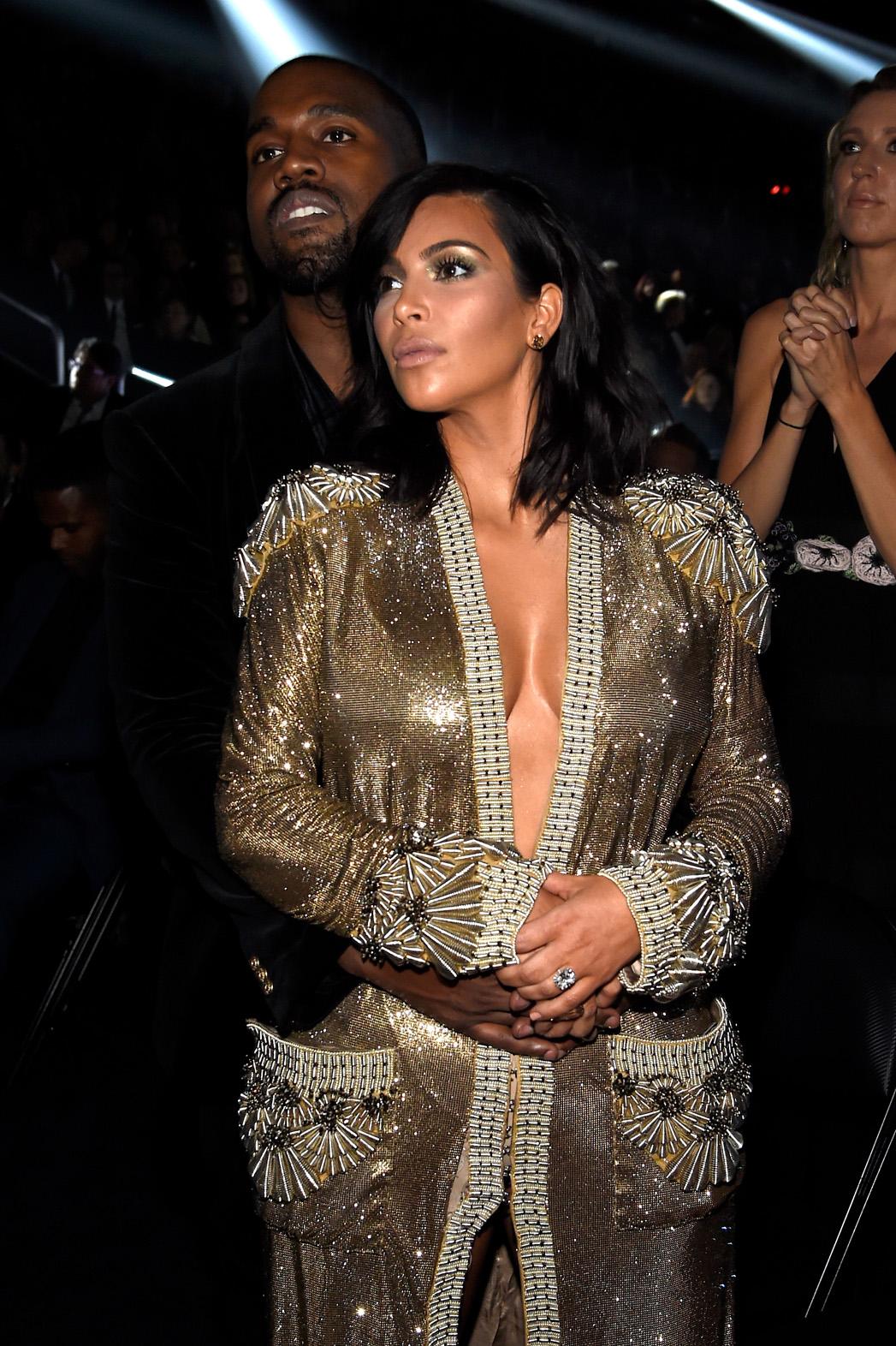 Kim Kardashian Grammys - P 2015
