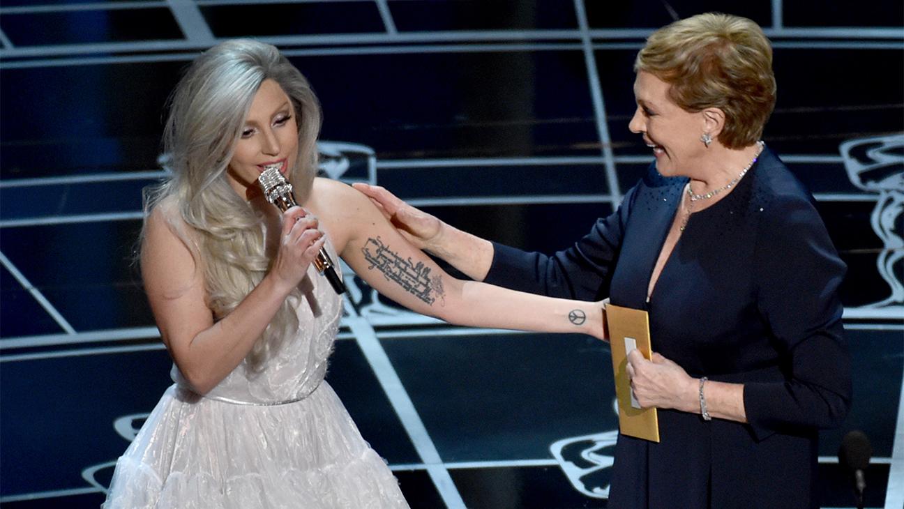 Oscars 2015 lady gaga julie andrews H