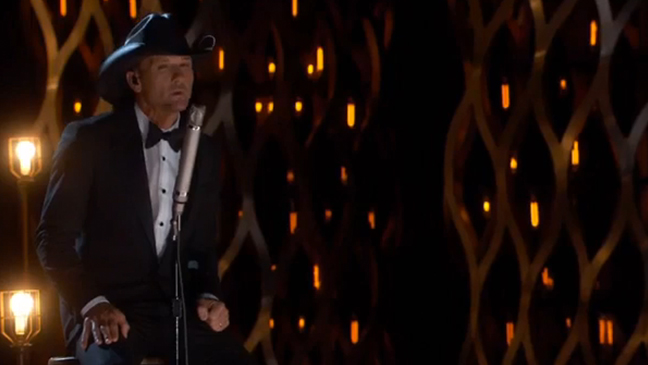 Oscars 2015: Watch Tim McGraw Perform 'I'm Not Gonna Miss You' (Video)
