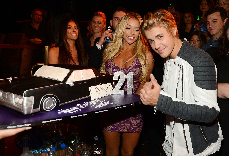 Justin Bieber 21st birthda at Omnia Las Vegas - H 2015