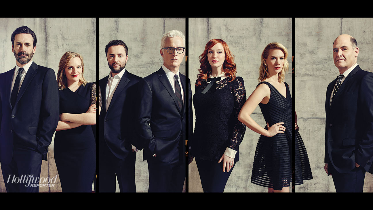 """<p>From left: <strong>Jon Hamm</strong>, <strong>Elisabeth Moss</strong>,&nbsp&#x3B;<strong>Vincent Kartheiser</strong>, <strong>John Slattery</strong>, <strong>Christina Hendricks</strong>, <strong>January Jones</strong> and show creator <strong>Matthew Weiner</strong>.</p><p><strong>Read</strong> <strong>more</strong> <a href=""""http://www.hollywoodreporter.com/news/mad-men-uncensored-epic-never-780101 """" target=""""_blank"""">The Uncensored, Epic, Never-Told Story Behind &#39&#x3B;Mad Men&#39&#x3B;&nbsp&#x3B; </a></p>"""