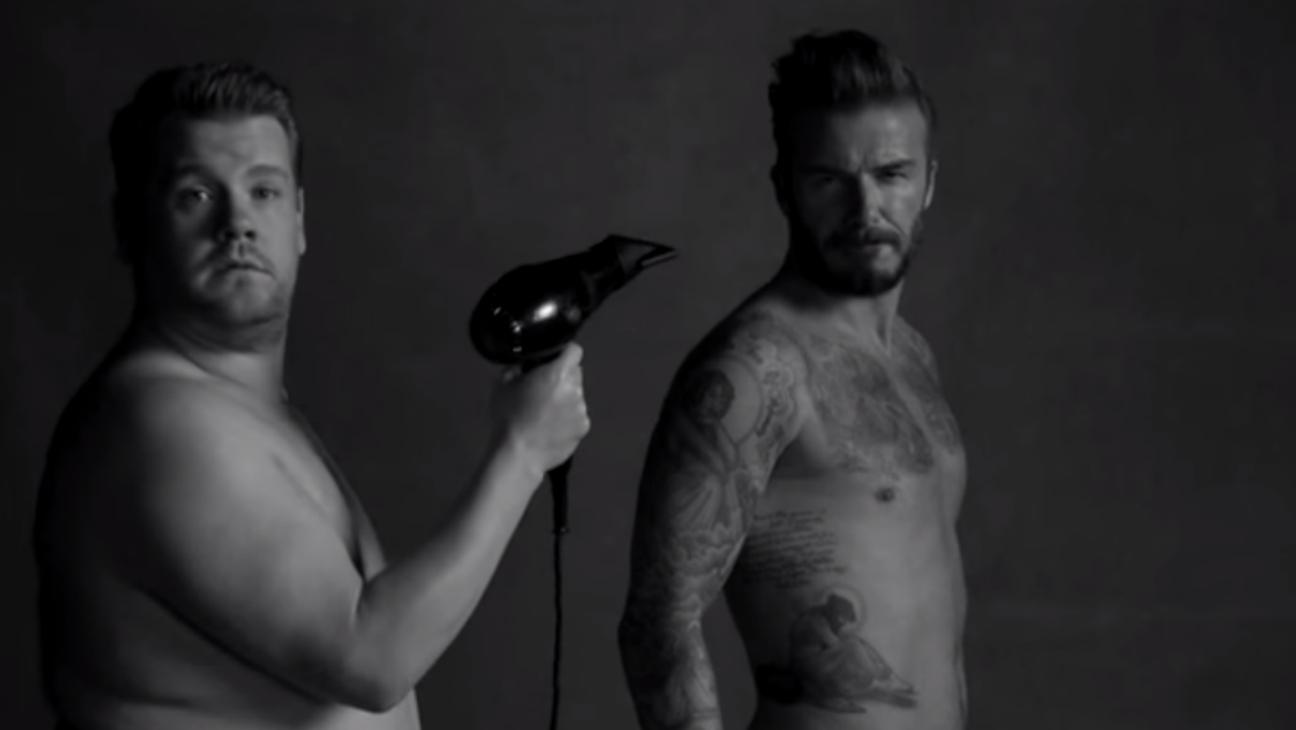 David Beckham and James Corden - H 2015