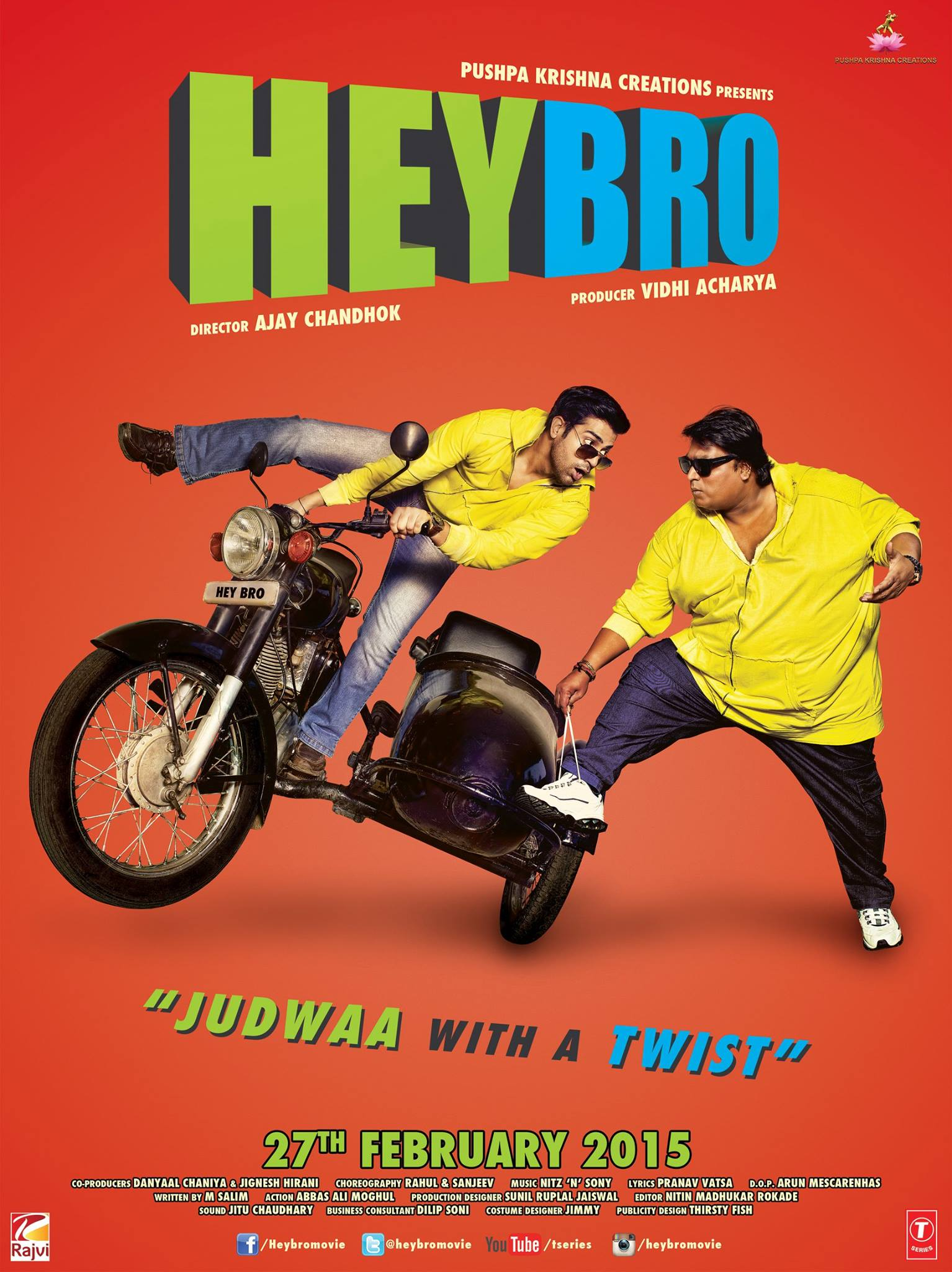 Bollywood 'Twins' Ripoff 'Hey Bro' - P 2015