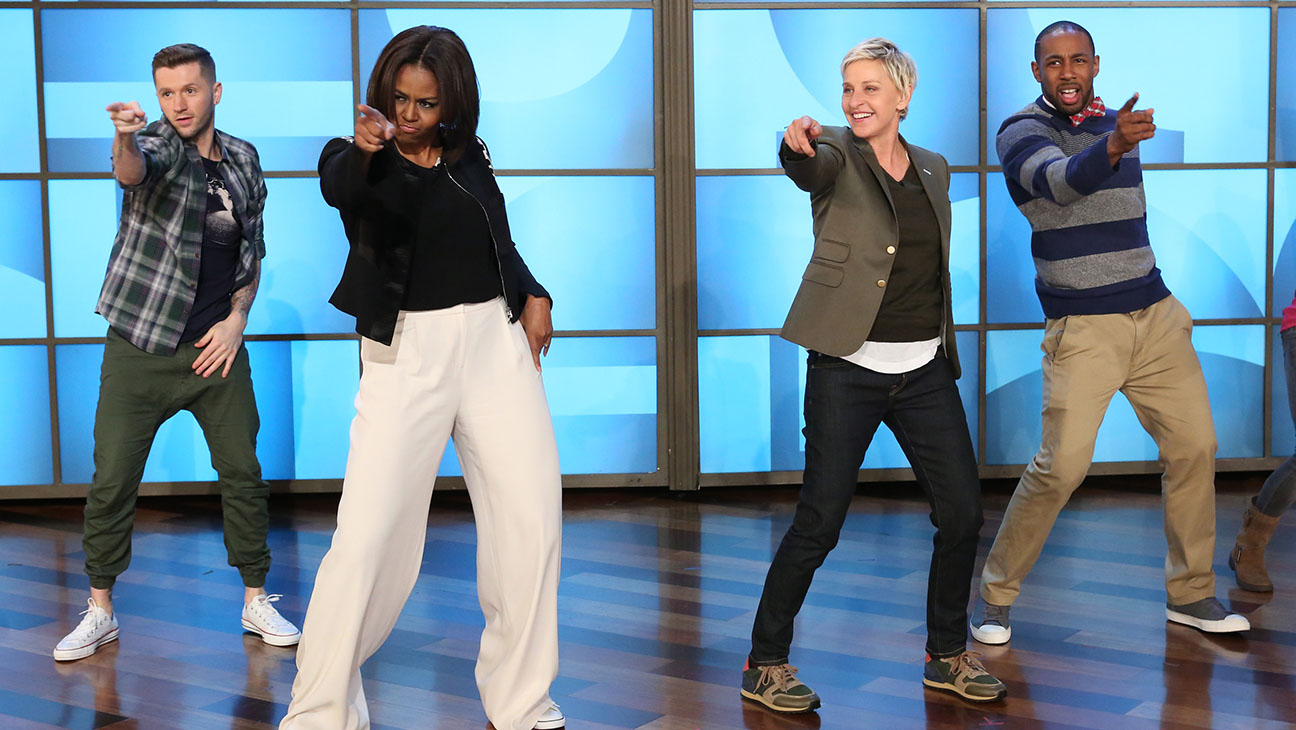 Michelle Obama Dancing Ellen - H 2015