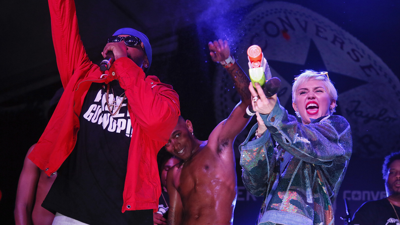 Miley Cyrus Mike Will Made It SXSW 2015 -- H