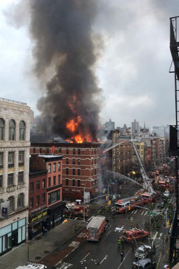 NYC Apartment Building Collapse - P 2015