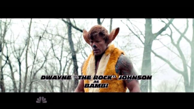 Dwayne Johnson SNL Still Bambi - H 2015