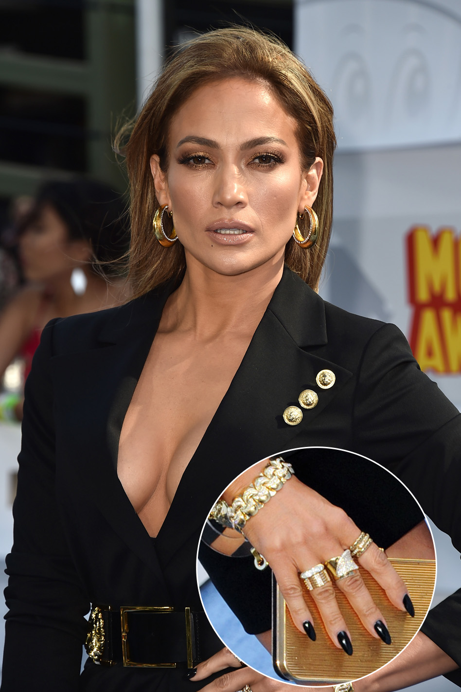 Jennifer Lopez Nails MTV - Inset 2015
