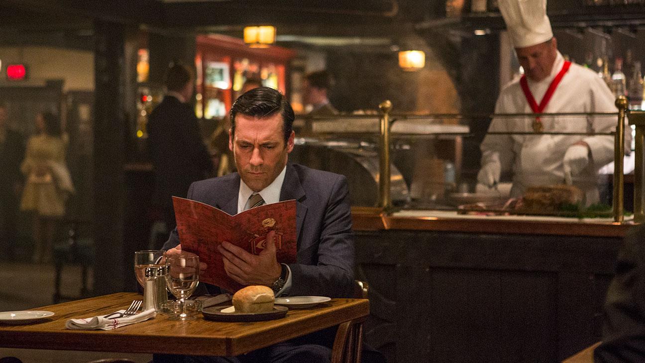 Mad Men Draper Eating Alone - H 2015