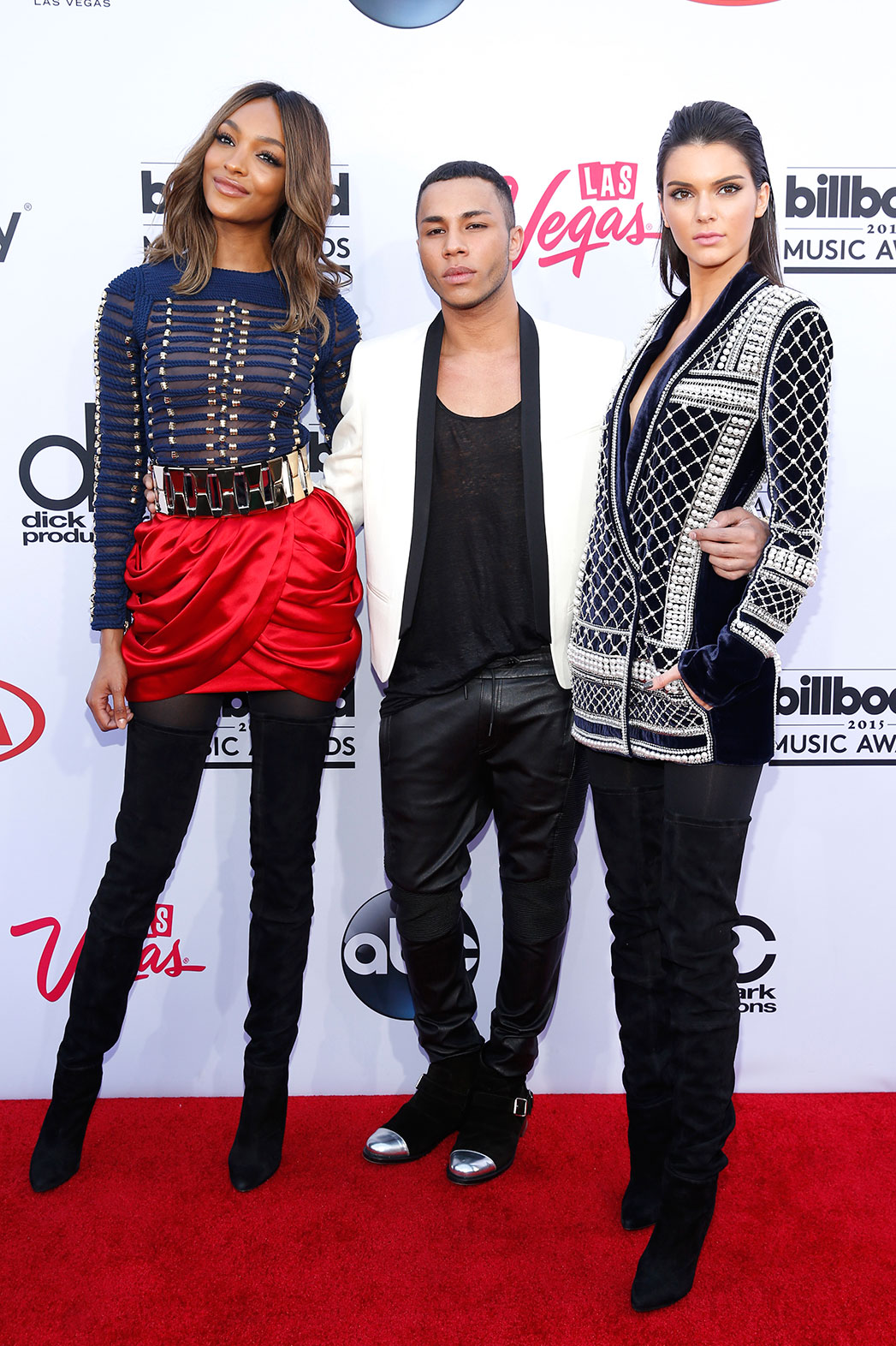 Jourdan Dunn, Olivier Rousteing, Kendall Jenner BBMAs - P 2015