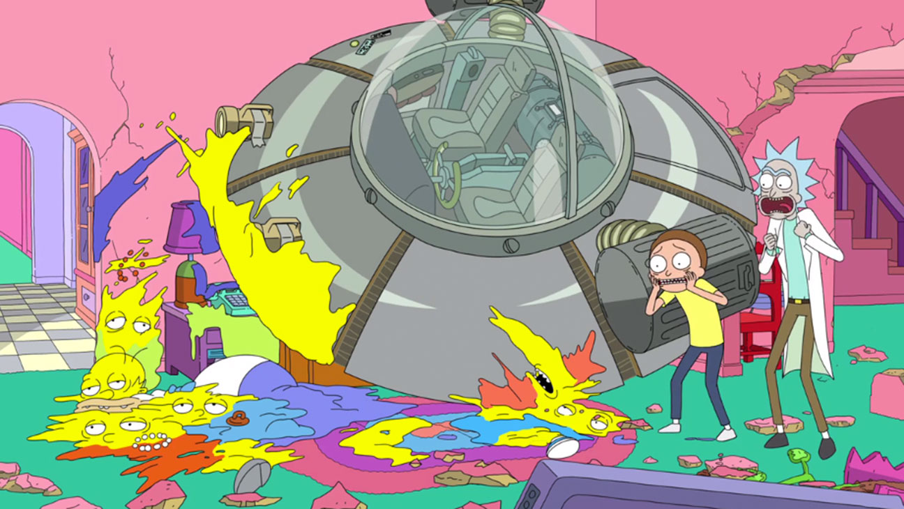 Rick and Morty Simpsons Couch Gag - H 2015