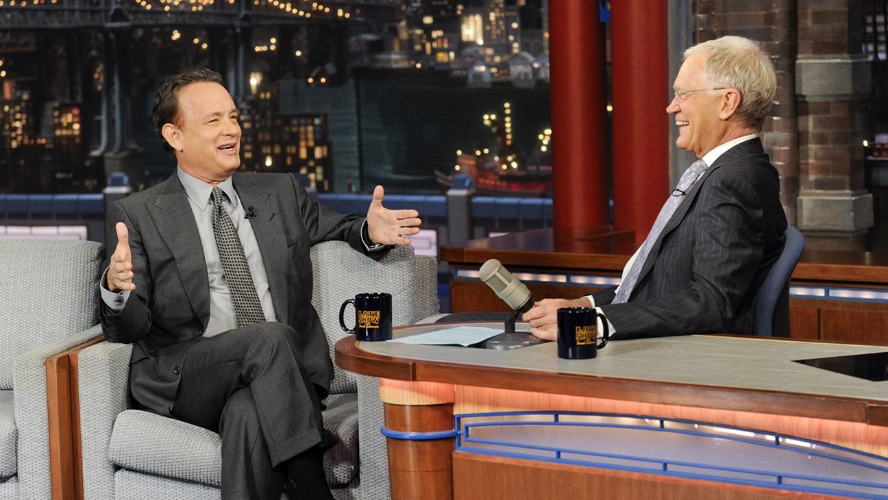 Tom Hanks David Letterman - H 2015