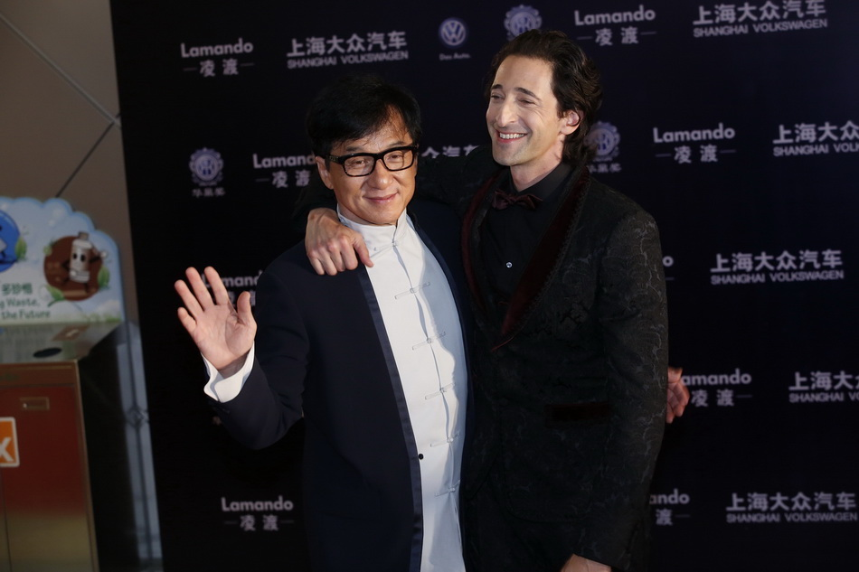 Jackie Chan Adrien Brody Huading Awards H 2015