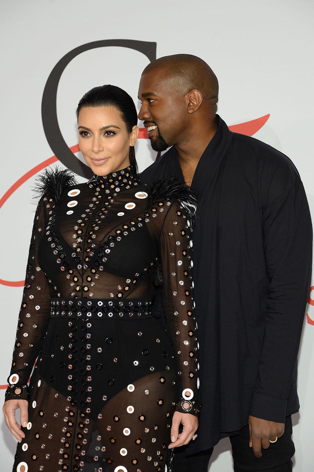 Kim Kardashian Kanye West CFDA Awards - P 2015