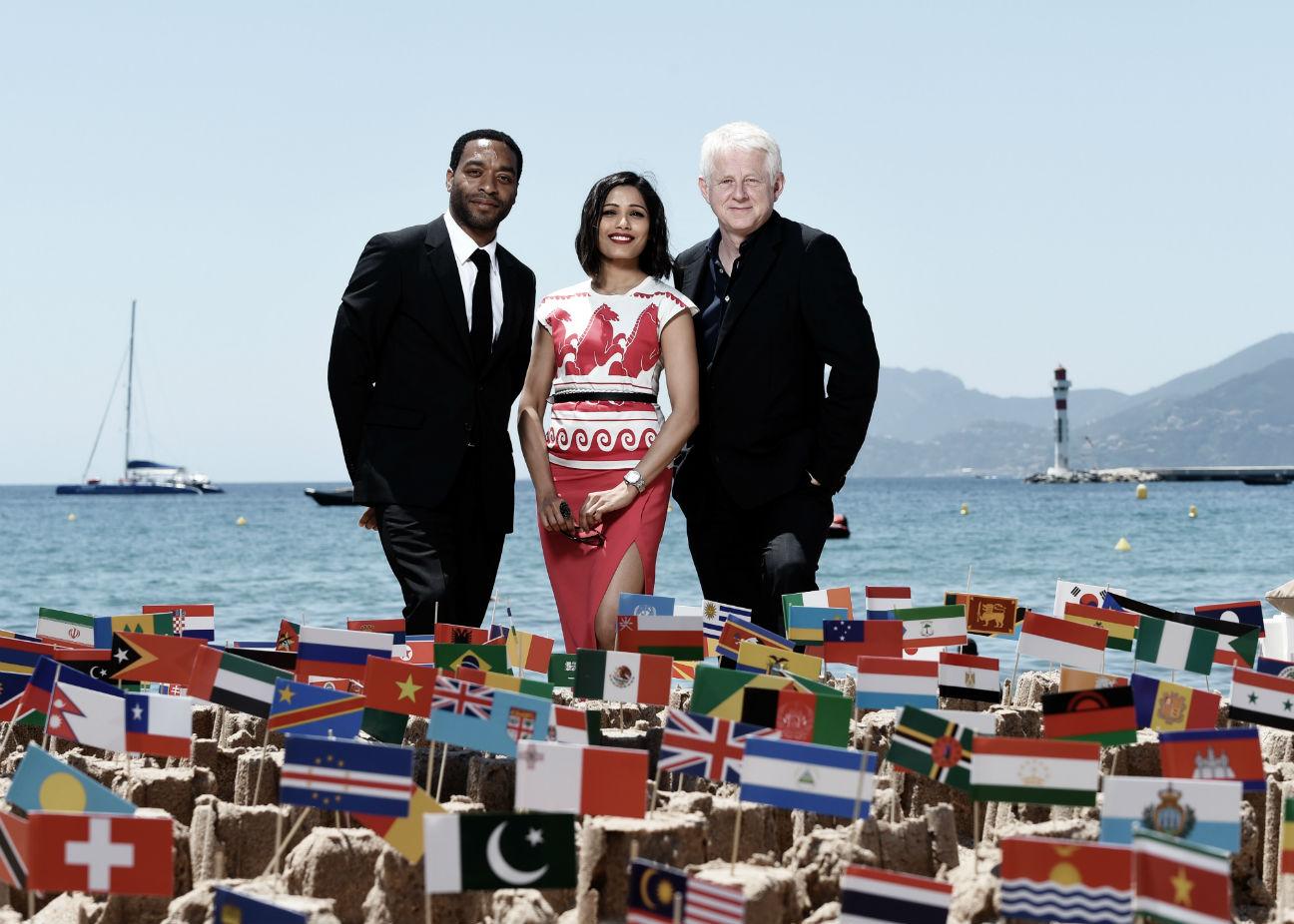 Global Goals Chiwetel Ejiofor, Freida Pinto and Richard Curtis