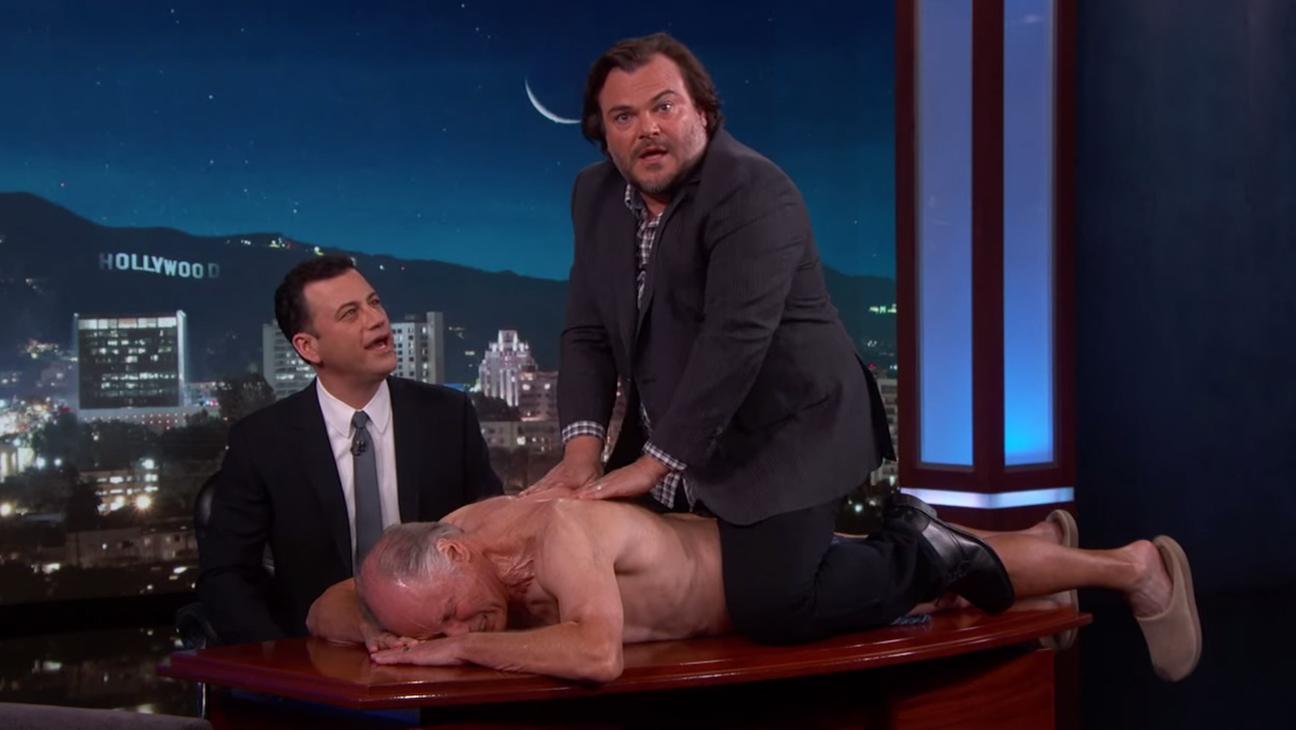 Jack Black Jimmy Kimmel Massage H 2015