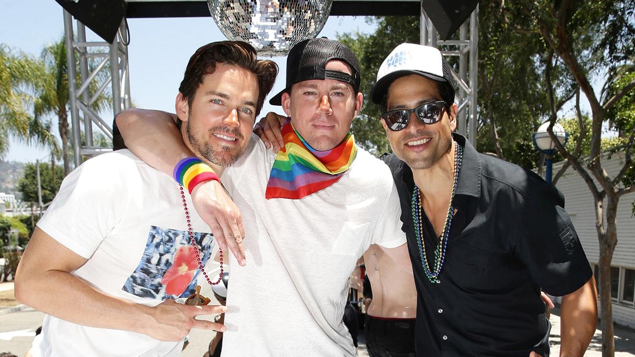 Matt Bomer, Channing Tatum and Adam Rodriguez LA Pride Parade - H 2015