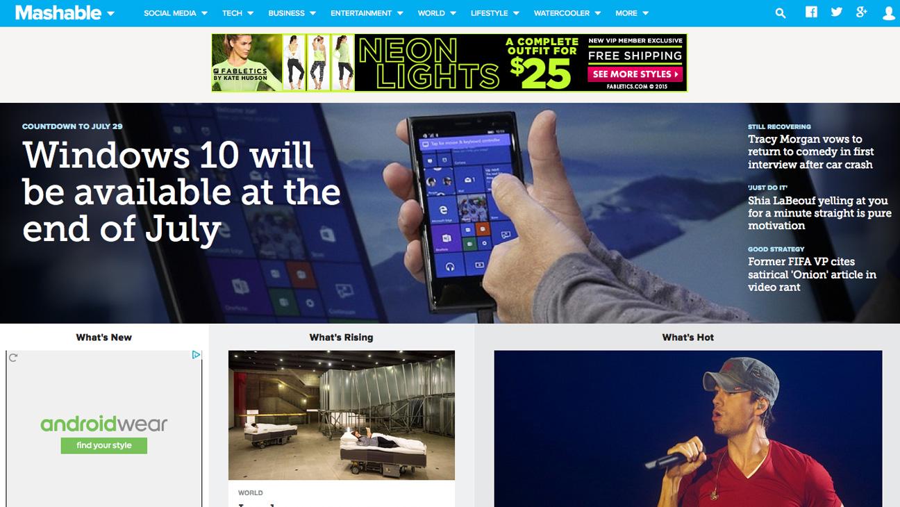 Mashable Homepage - H 2015