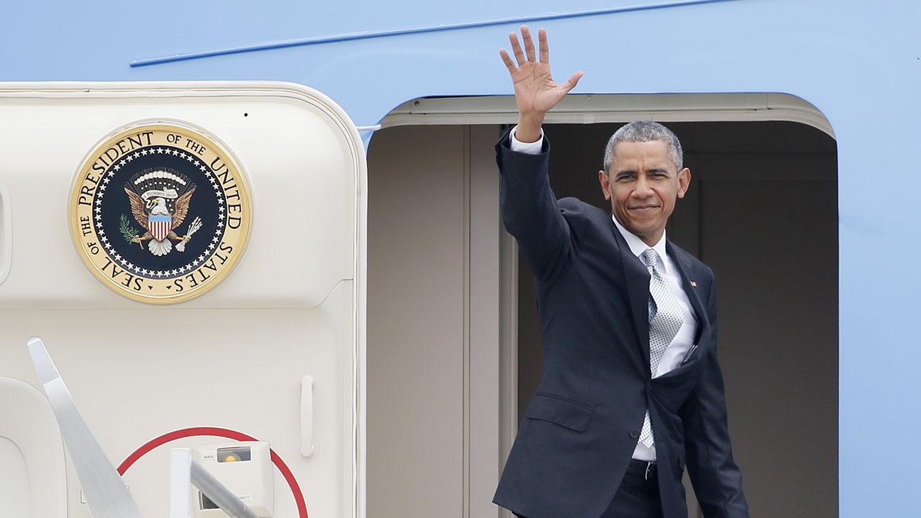 President Obama Leaving LA - H 2015