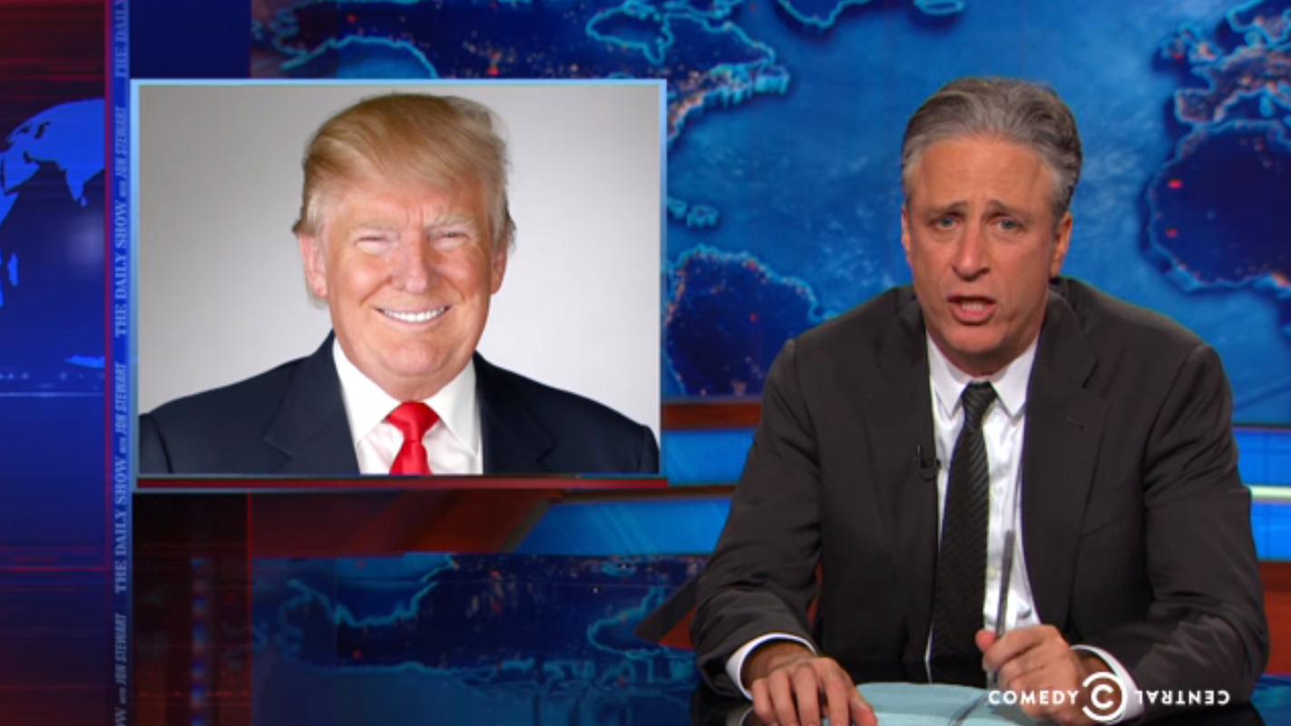 Jon Stewart Donald Trump - H 2015