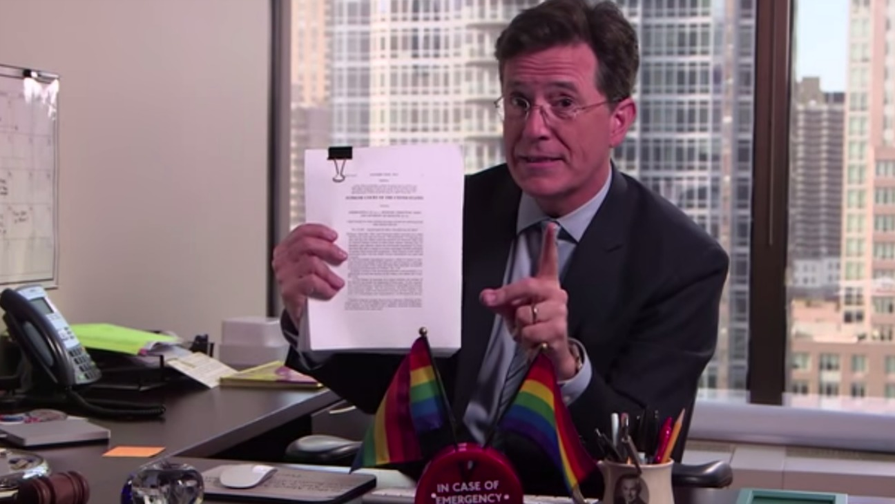 Stephen Colbert Gay Marriage Ruling - H - 2015