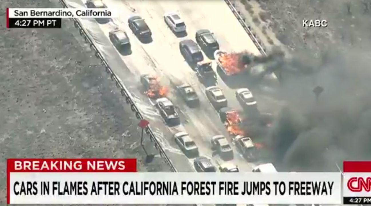 CA Freeway Fire July 17 - H - 2015