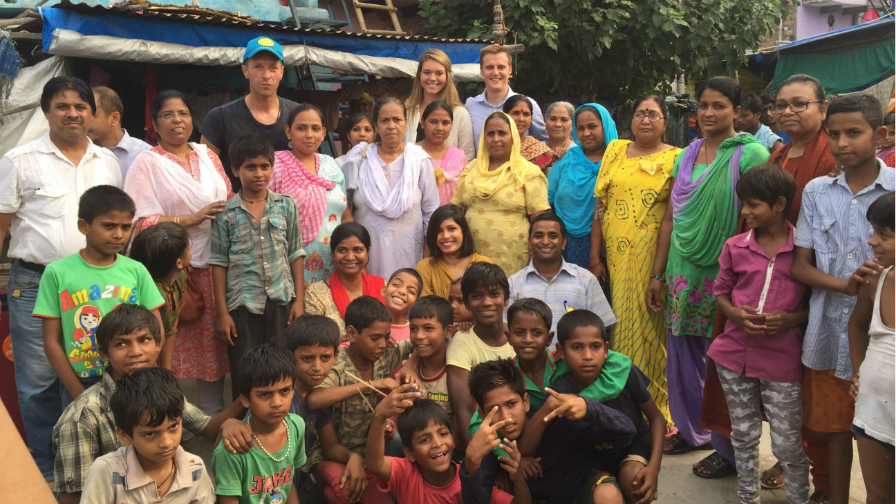 Chris Martin, Freida Pinto in India on Global Poverty Project visit - H 2015