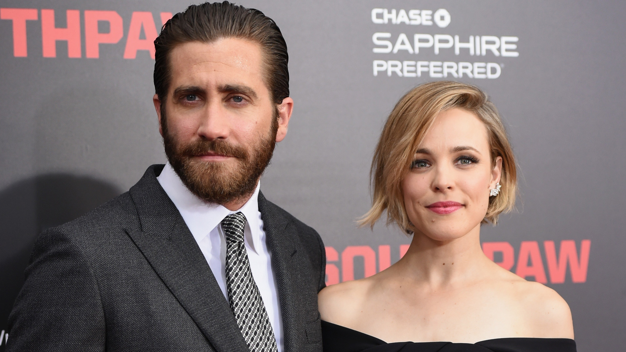 Jake Gyllenhaal and Rachel McAdams at the 'Southpaw' Premiere - H 2015