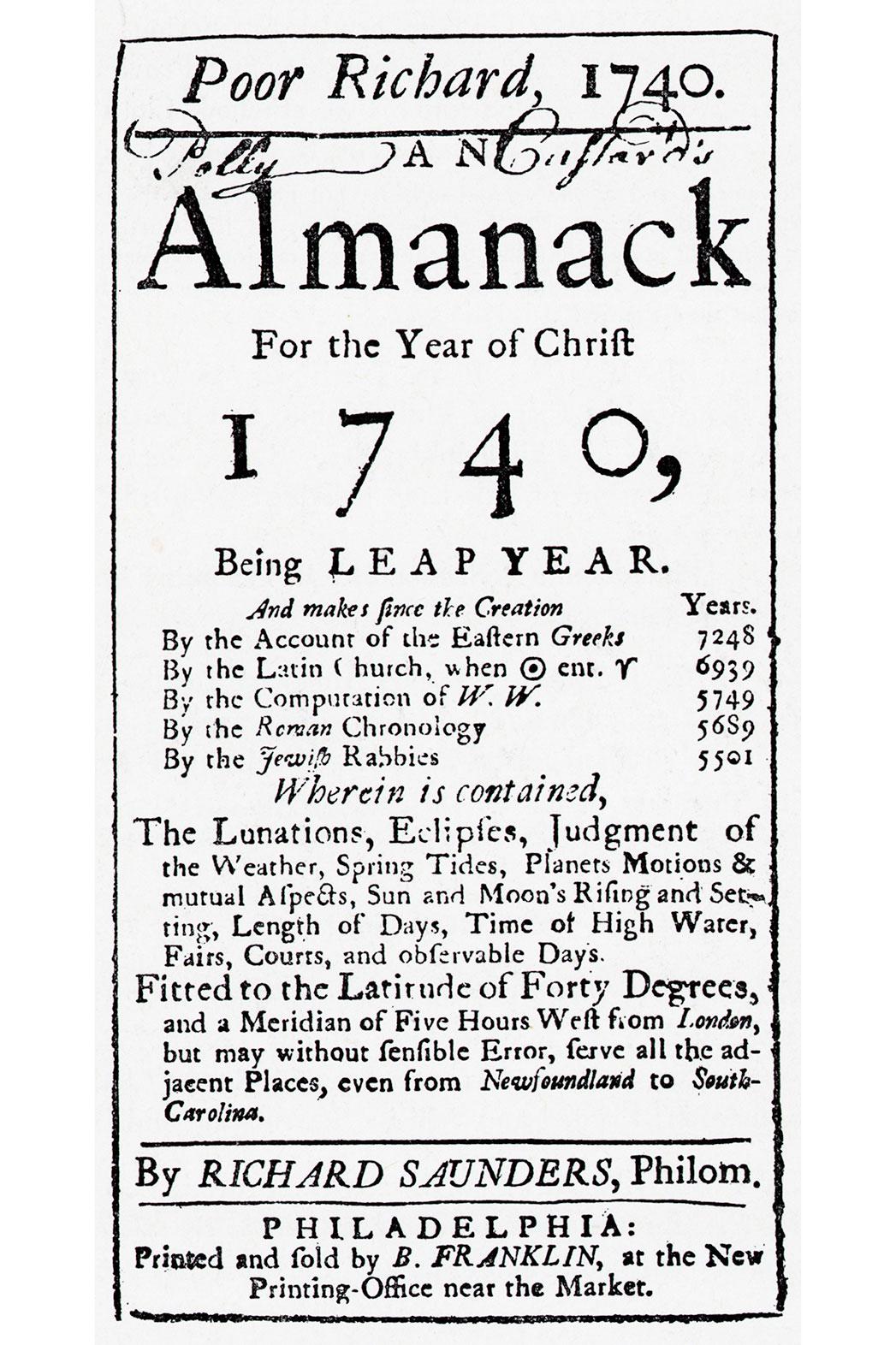 Poor Richard's Almanack - P 2015