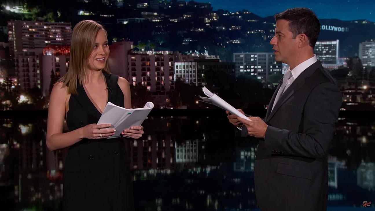 Jimmy Kimmel, Brie Larson Emoji Movie Reading Still - H 2015