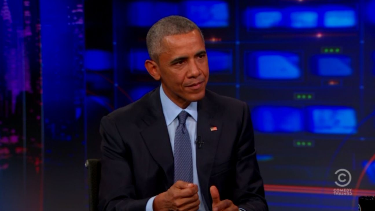 Obama Daily Show Still - H 2015