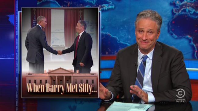 Daily Show White House Meetings Still - H 2015