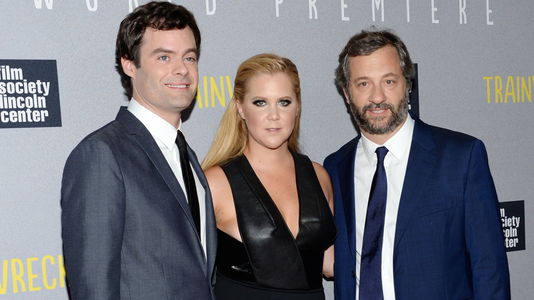 Bill Hader, Amy Schumer and Judd Apatow at the 'Trainwreck' world premiere - H 2015