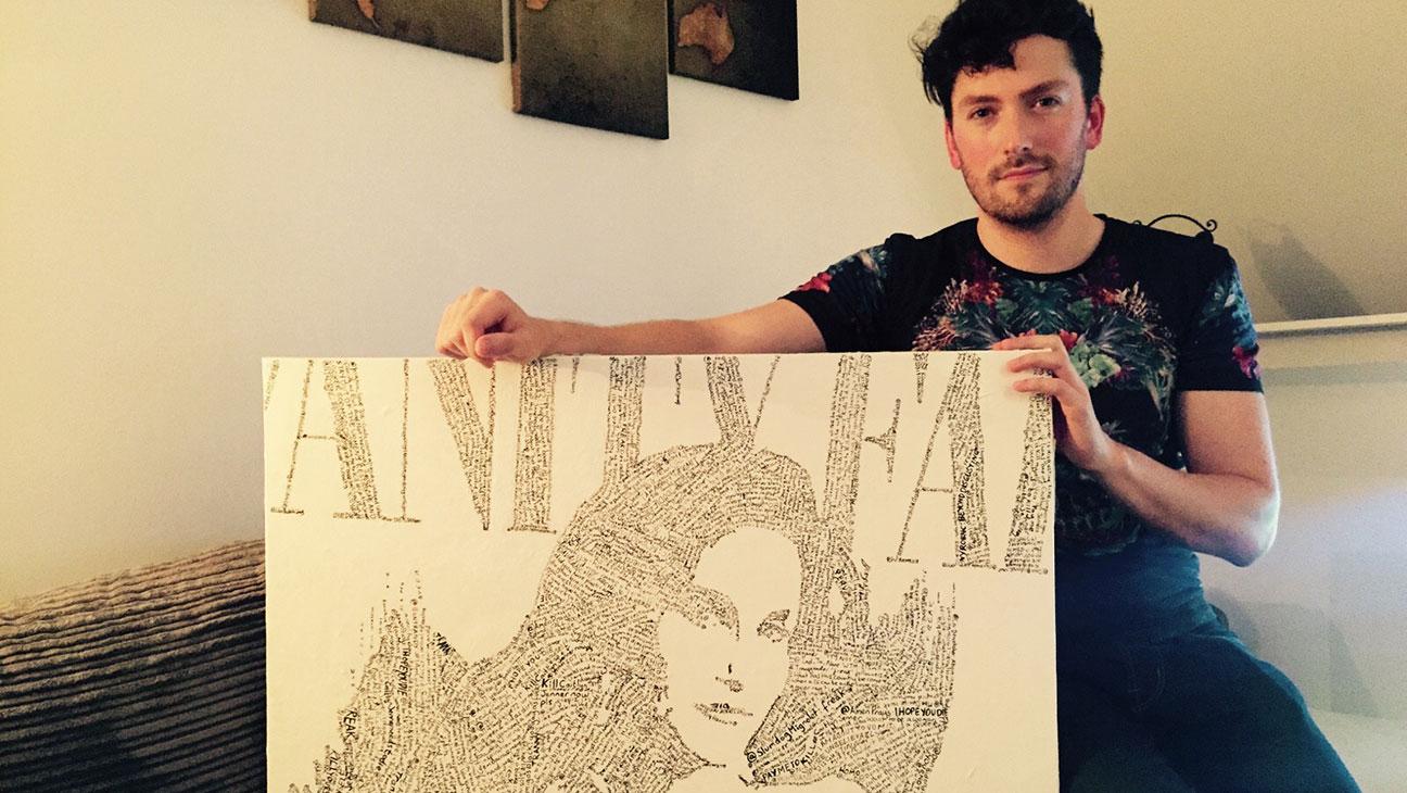 Artist with Caitlyn Jenner Vanity Fair Cover Art - H 2015