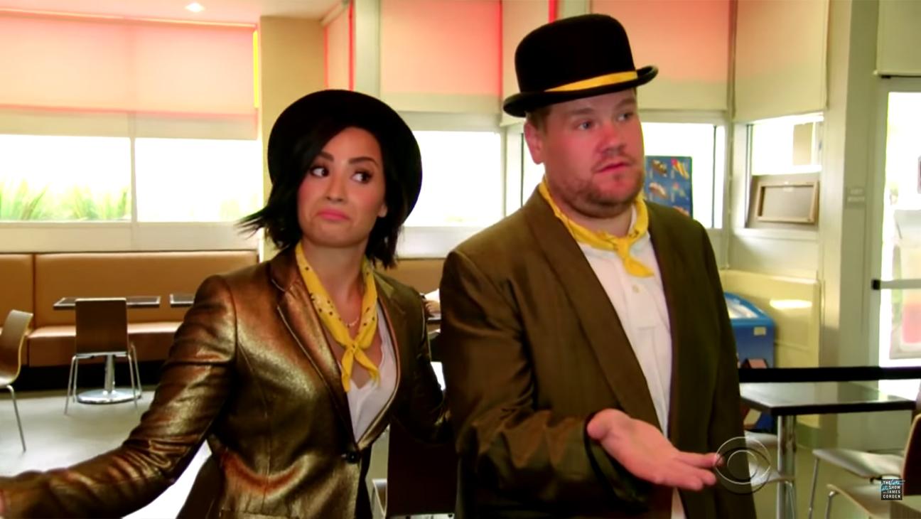 Dami Lovato James Corden Singing Telegrams H 2015