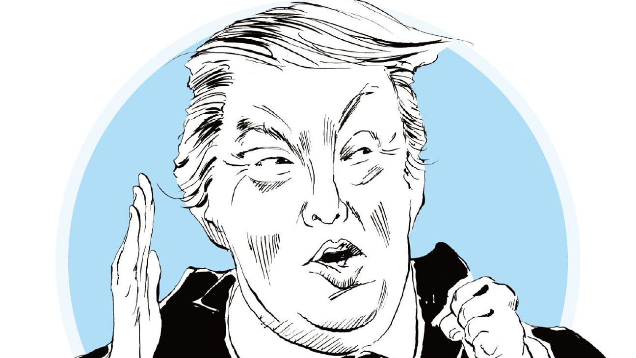 Donald Trump Gossip Illustration - H 2015
