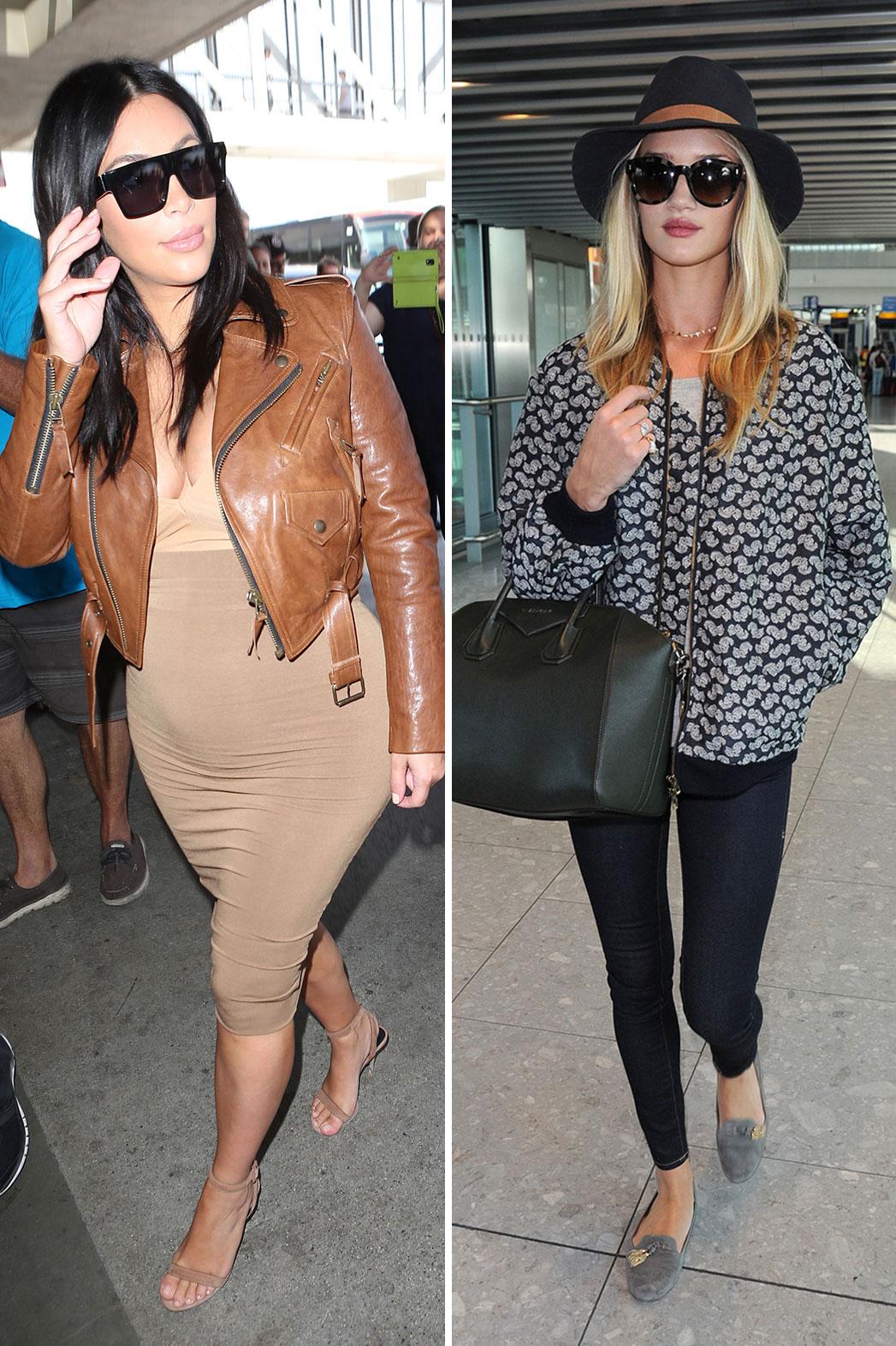 Kim Kardashian, Rosie Huntington-Whiteley Airport Split - P 2015