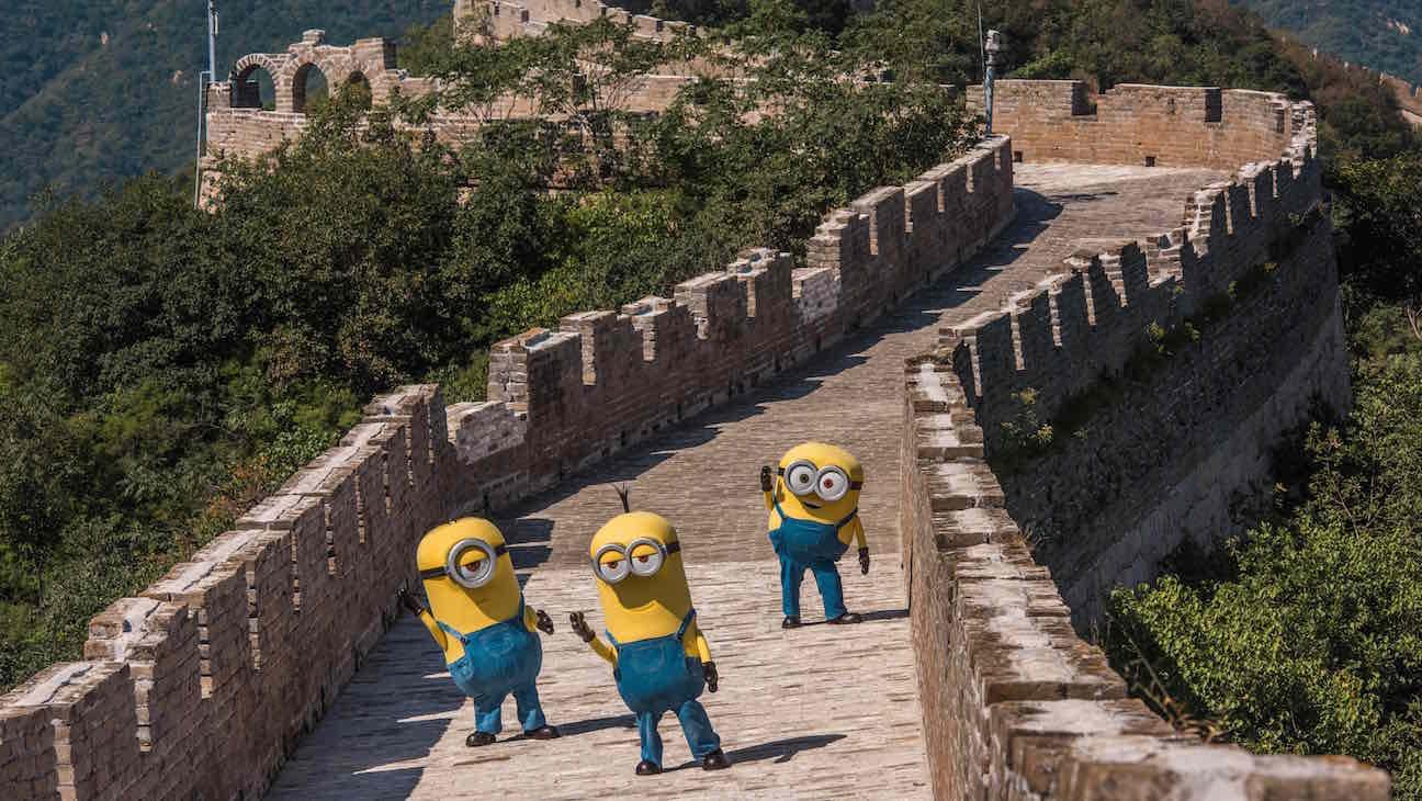 Minions Great Wall China