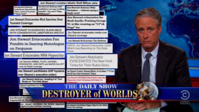 Daily Show Destroyer of Worlds Still - H 2015