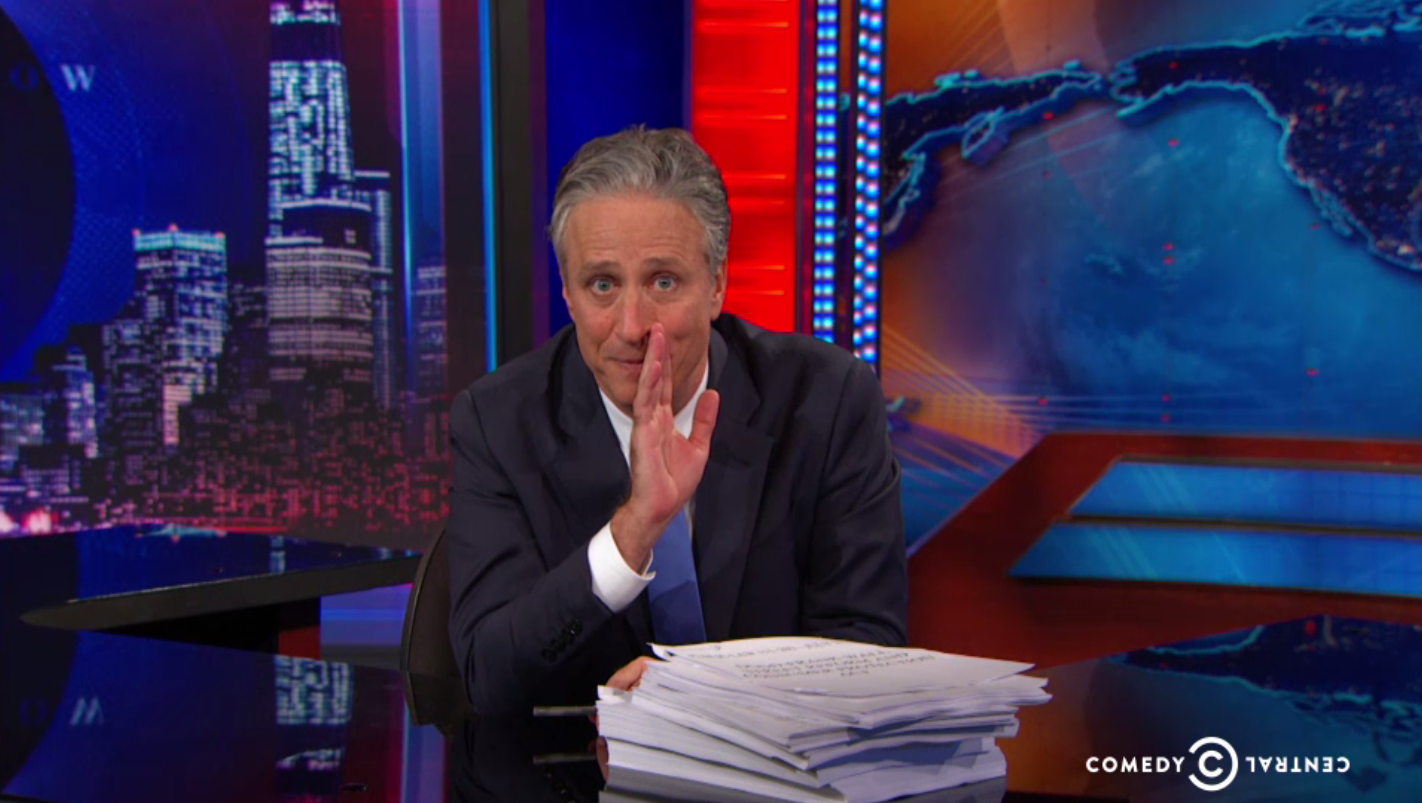 Jon Stewart During His Last 'Daily Show' - H 2015