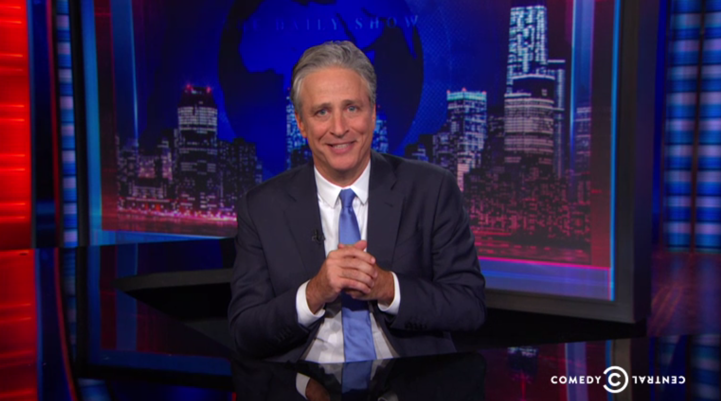 Jon Stewart During His Final 'Daily Show' - H 2015