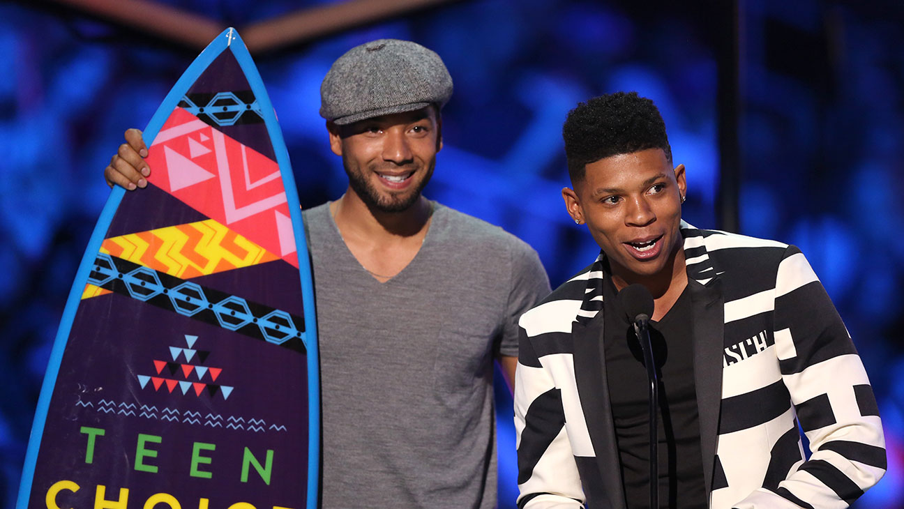 Jussie Smollett, Bryshere Y. Gray, Accepting Teen Choice Award - H 2015