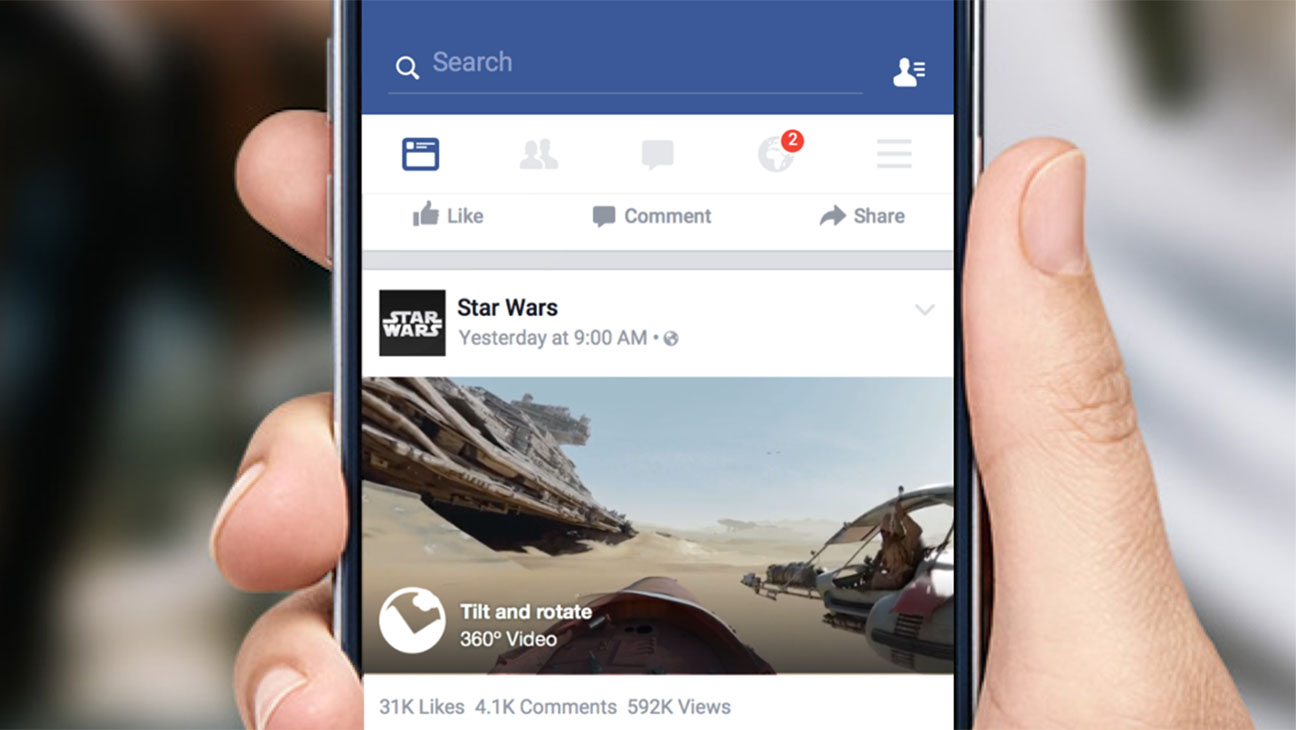 Facebook 360 in News Feed - H 2015