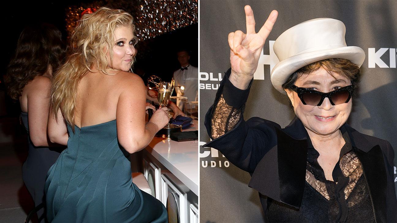 Amy Schumer and Yoko Ono Split H 2015