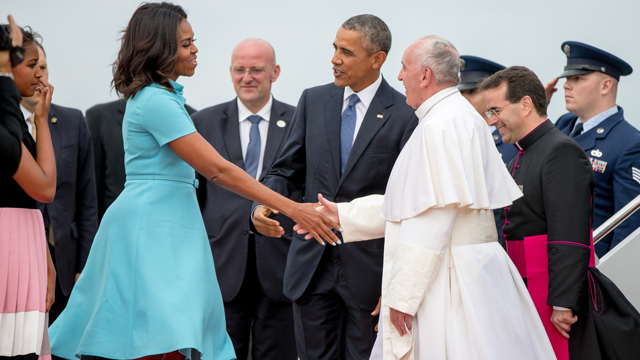 Michelle Obama and Pope - H 2015
