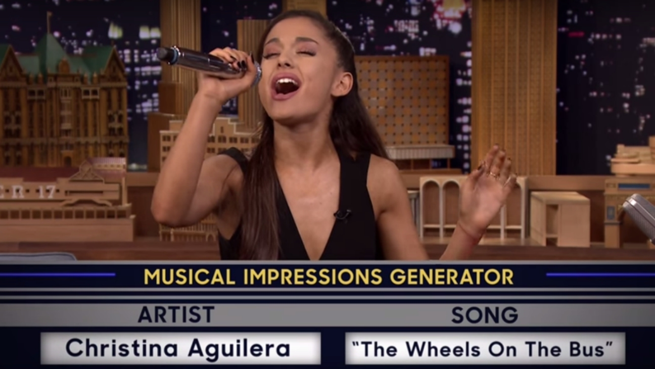 Ariana Grande Christina Aguilera Impression — H 2015